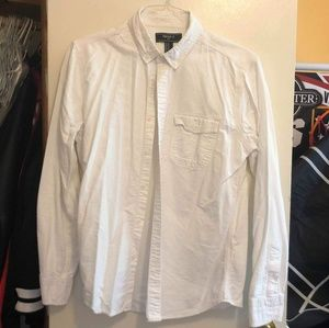 Forever 21 White Button Down Shirt